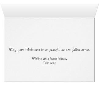 Merry Christmas Horse-Drawn Sleigh Card