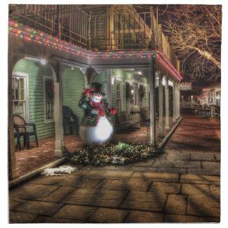 Merry Christmas House Printed Napkins