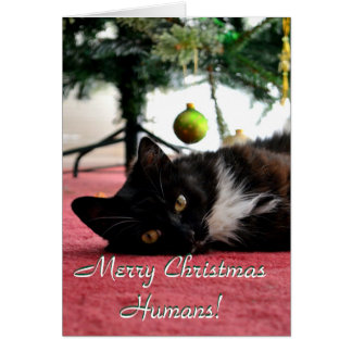 Merry Christmas Humans! Card
