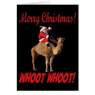 Merry Christmas Hump Day Santa & Camel Greeting Card
