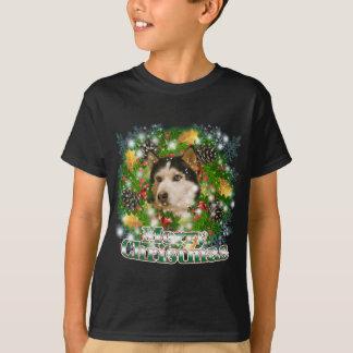 Merry Christmas Husky T-Shirt