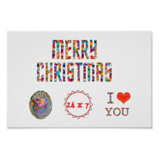 Merry Christmas,   I Love You Poster
