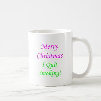 Merry Christmas I Quit Smoking! 2 Mugs