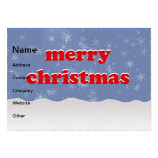 Merry Christmas illustration Business Card Templates