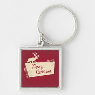 Merry Christmas illustration Key Chain