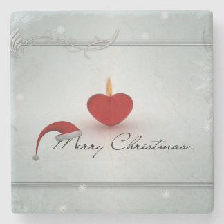 Merry Christmas illustration Stone Beverage Coaster