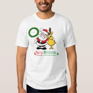 Merry Christmas Image Wreath Tee Shirts