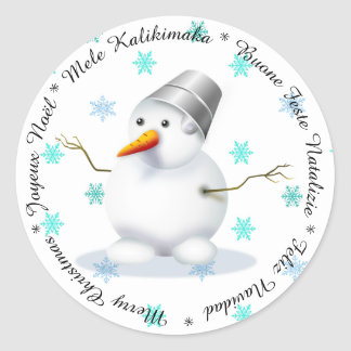 Merry Christmas in Different Languages  Sticker