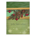 Merry Christmas in German, frohe Weihnachten Card