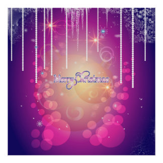 Merry christmas in soft pink poster