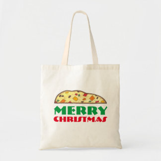 Merry Christmas Italian Biscotti Holiday Tote