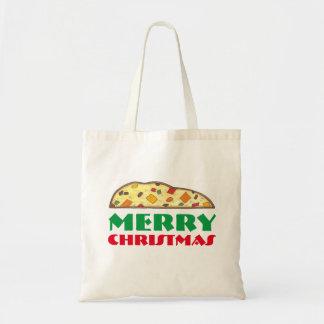 Merry Christmas Italian Biscotti Holiday Tote Budget Tote Bag