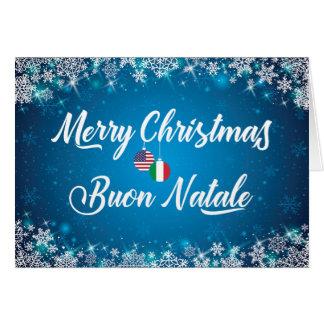 Merry Christmas Italian Card, Buon Natale Card
