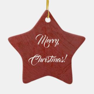 Merry Christmas! Italian Red Venetian Plaster Ceramic Ornament