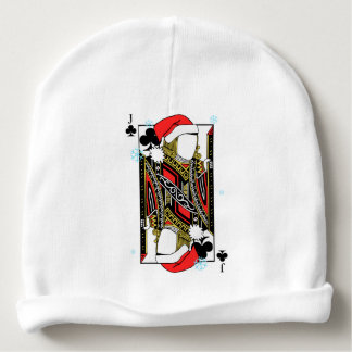 Merry Christmas Jack of Clubs - Add Your Images Baby Beanie