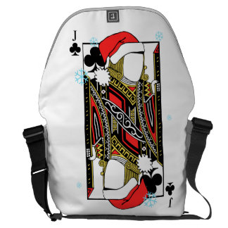 Merry Christmas Jack of Clubs - Add Your Images Messenger Bag