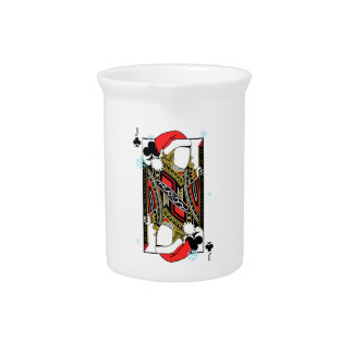 Merry Christmas Jack of Clubs - Add Your Images Pitcher