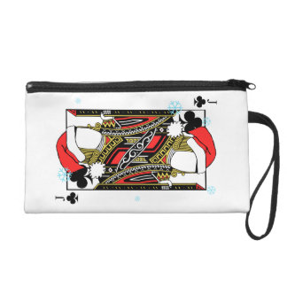 Merry Christmas Jack of Clubs - Add Your Images Wristlet