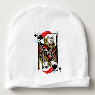 Merry Christmas Jack of Clubs Baby Beanie