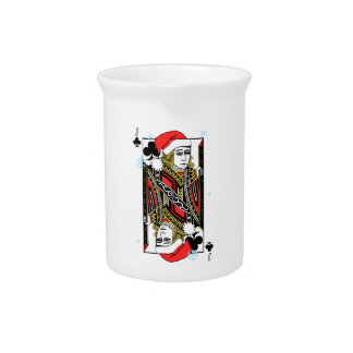 Merry Christmas Jack of Clubs Drink Pitchers
