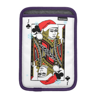 Merry Christmas Jack of Clubs iPad Mini Sleeves