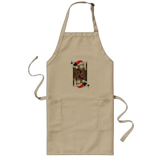 Merry Christmas Jack of Clubs Long Apron