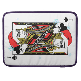 Merry Christmas Jack of Clubs Sleeves For MacBook Pro