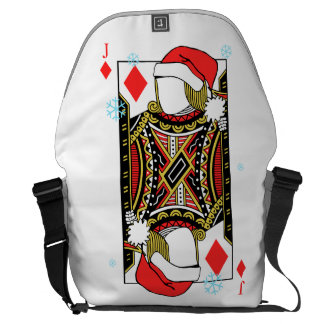 Merry Christmas Jack of Diamonds - Add Your Images Commuter Bag