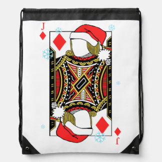 Merry Christmas Jack of Diamonds - Add Your Images Drawstring Bag