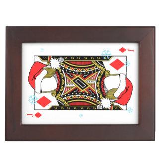 Merry Christmas Jack of Diamonds - Add Your Images Keepsake Box