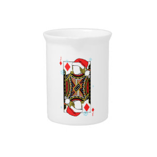 Merry Christmas Jack of Diamonds - Add Your Images Pitcher