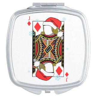 Merry Christmas Jack of Diamonds - Add Your Images Travel Mirror