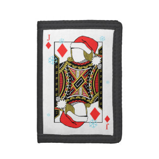 Merry Christmas Jack of Diamonds - Add Your Images Trifold Wallet