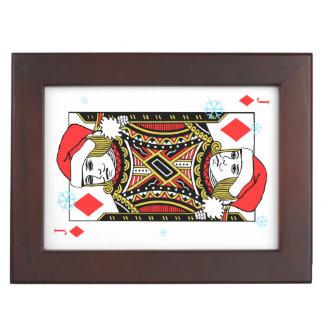 Merry Christmas Jack of Diamonds Keepsake Box