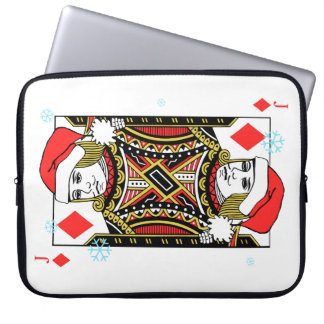 Merry Christmas Jack of Diamonds Laptop Sleeves