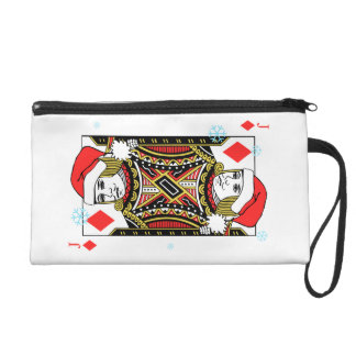 Merry Christmas Jack of Diamonds Wristlet