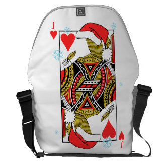 Merry Christmas Jack of Hearts - Add Your Images Commuter Bag