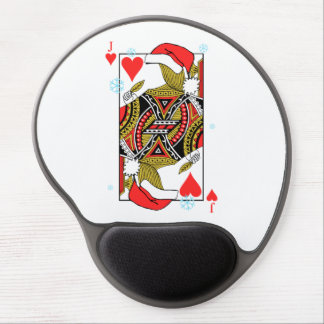 Merry Christmas Jack of Hearts - Add Your Images Gel Mouse Pad