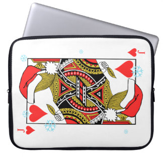 Merry Christmas Jack of Hearts - Add Your Images Laptop Sleeve