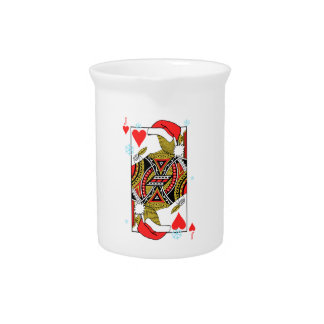 Merry Christmas Jack of Hearts - Add Your Images Pitcher