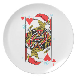 Merry Christmas Jack of Hearts - Add Your Images Plate