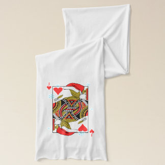 Merry Christmas Jack of Hearts - Add Your Images Scarf