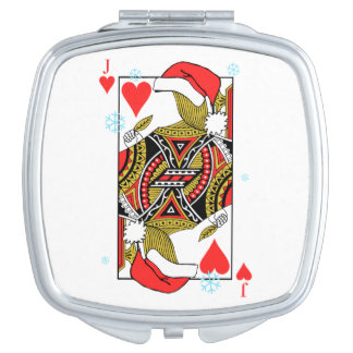 Merry Christmas Jack of Hearts - Add Your Images Vanity Mirrors