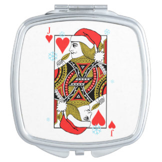 Merry Christmas Jack of Hearts Compact Mirror