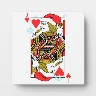 Merry Christmas Jack of Hearts Display Plaque