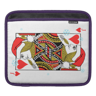 Merry Christmas Jack of Hearts iPad Sleeves