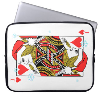 Merry Christmas Jack of Hearts Laptop Sleeves
