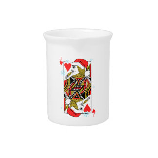 Merry Christmas Jack of Hearts Pitcher
