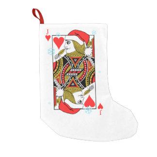 Merry Christmas Jack of Hearts Small Christmas Stocking