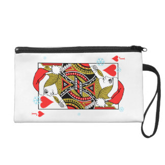 Merry Christmas Jack of Hearts Wristlet